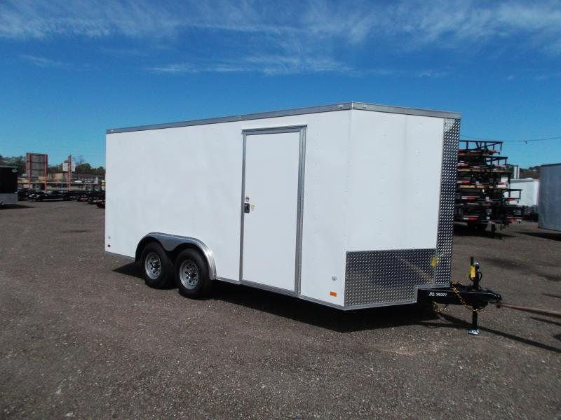 SECIAL - 2020 Covered Wagon Trailers 8x16 Tandem Axle Cargo / Enclosed Trailer / Ramp / RV Side Door / LEDs