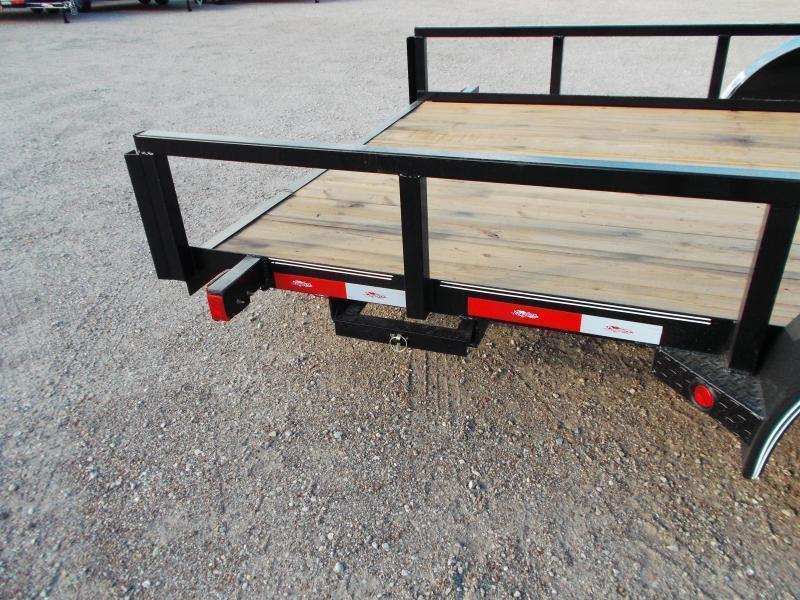 """2020 Longhorn Trailers 83x20 Utility Trailer / 2"""" Square Tubing / 5ft Ramps / Brakes"""