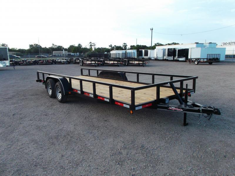 "2020 Longhorn Trailers 83x20 Utility Trailer / 2"" Square Tubing / 5ft Ramps / Brakes"