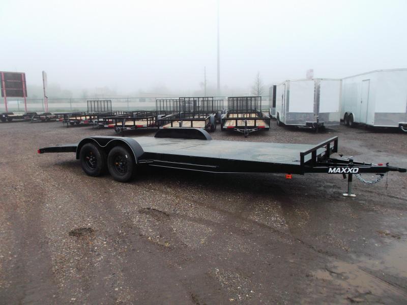 2020 Maxxd 83x20 Steel Deck Car Hauler / Racing Trailer / Powder Coated / 5ft Ramps / 4ft Dovetail - MAXXD GRAY METALLIC