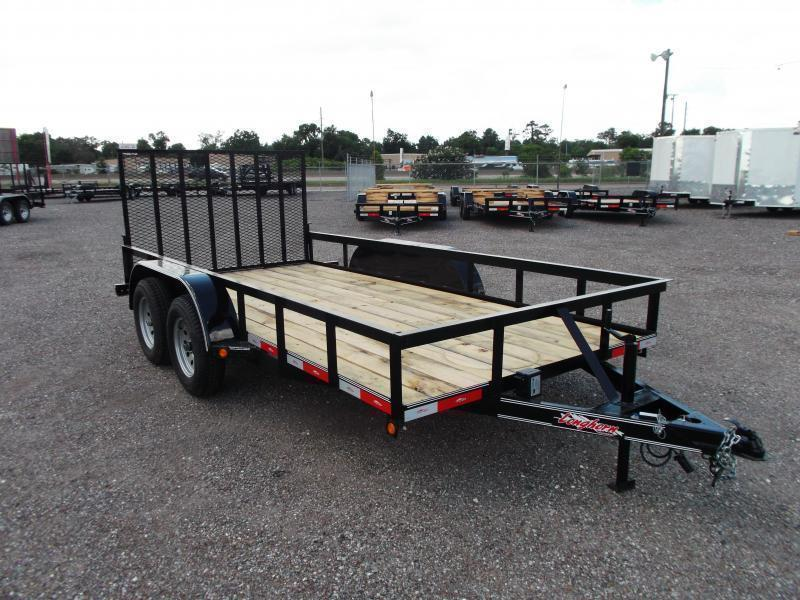 2020 Longhorn Trailers 14ft Utility Trailer w/ Heavy Duty 4ft Ramp Gate
