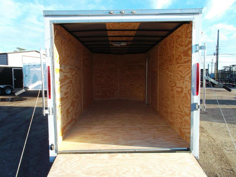 WOW - SPECIAL - 2019 Texas Select 7x16 Tandem Axle Cargo Trailer / Enclosed Trailer / Ramp / 7ft Interior / Side Door / LEDs