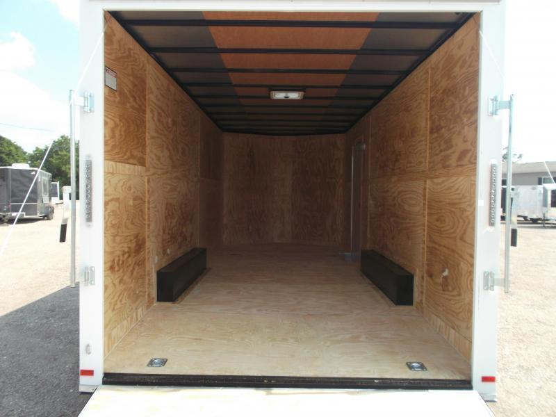 """SPECIAL - 2019 Covered Wagon Trailers 8.5x20 Tandem Axle Cargo / Enclosed Trailer / 7'6"""" Interior Height / Ramp / 5200# Axles / LEDs"""