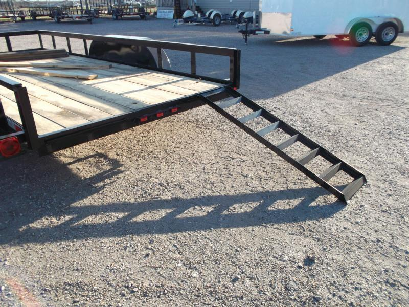 2020 Longhorn Trailers 18ft Utility Trailer w/ 5ft Slide Out Ramps