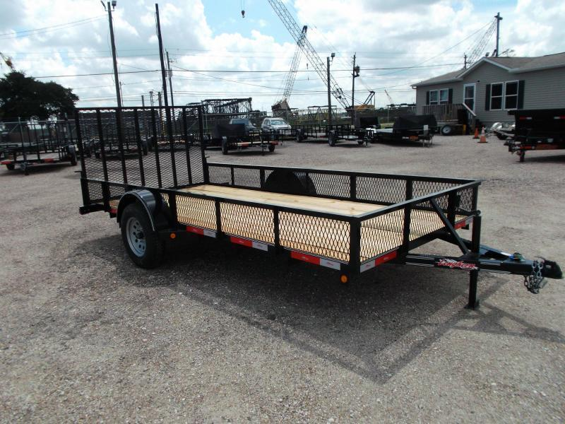 "2020 Longhorn Trailers 77x14 Single Axle Utility Trailer / Landscape Trailer w/ 15"" Expanded Metal Sides / 4ft Heavy Duty Ramp Gate"