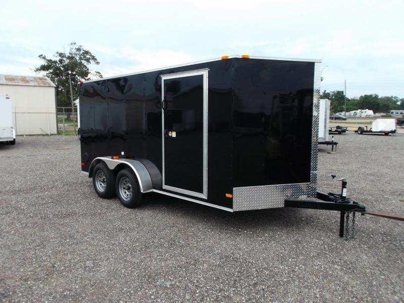 "2020 Covered Wagon Trailers 7x14 Tandem Axle Cargo Trailer / Enclosed Trailer / 6'6"" Interior Height / Ramp / RV Side Door"