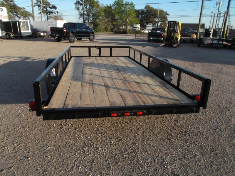 SPECIAL - 2019 Longhorn Trailers 77x14 Single Axle Utility Trailer w/ No Gate