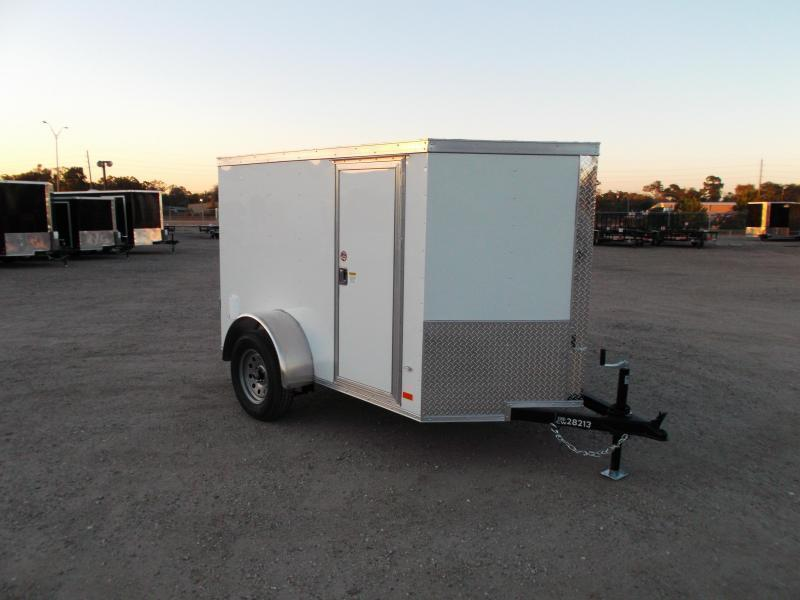 2020 Covered Wagon Trailers 5x8 Single Axle Cargo Trailer / Enclosed Trailer / Ramp / RV Side Door / LEDs