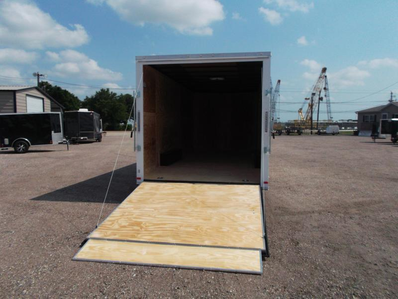 """2020 Covered Wagon Trailers 8.5x20 Tandem Axle Cargo / Enclosed Trailer / 7'6"""" Interior Height / Ramp / 5200# Axles / LEDs"""