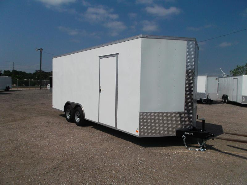 "2020 Covered Wagon Trailers 8.5x20 Tandem Axle Cargo / Enclosed Trailer / 7'6"" Interior Height / Ramp / 5200# Axles / LEDs"