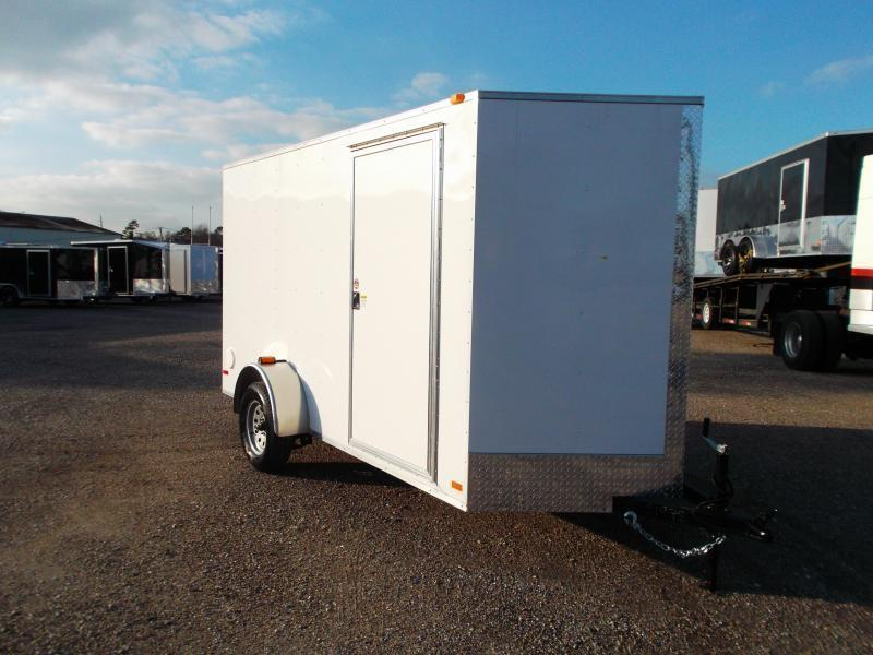 2020 Covered Wagon Trailers 6x12 Single Axle Cargo Trailer / Enclosed Trailer / Ramp / 6ft Interior Height / RV Side Door / 1 Piece Roof