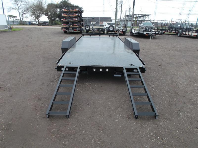 2020 Maxxd 83X20 7K Steel Deck Car Hauler / Racing Trailer / Powder Coated / Steel Deck / 3500# Axles / 4ft Dovetail / LEDs