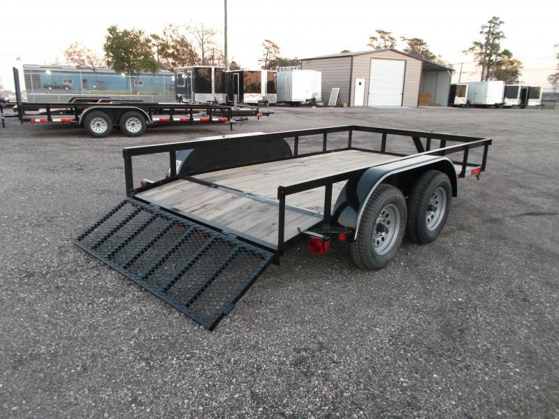 2020 Longhorn Trailers 12ft Tandem Axle Utility Trailer / 2ft Dovetail / 2ft Ramp