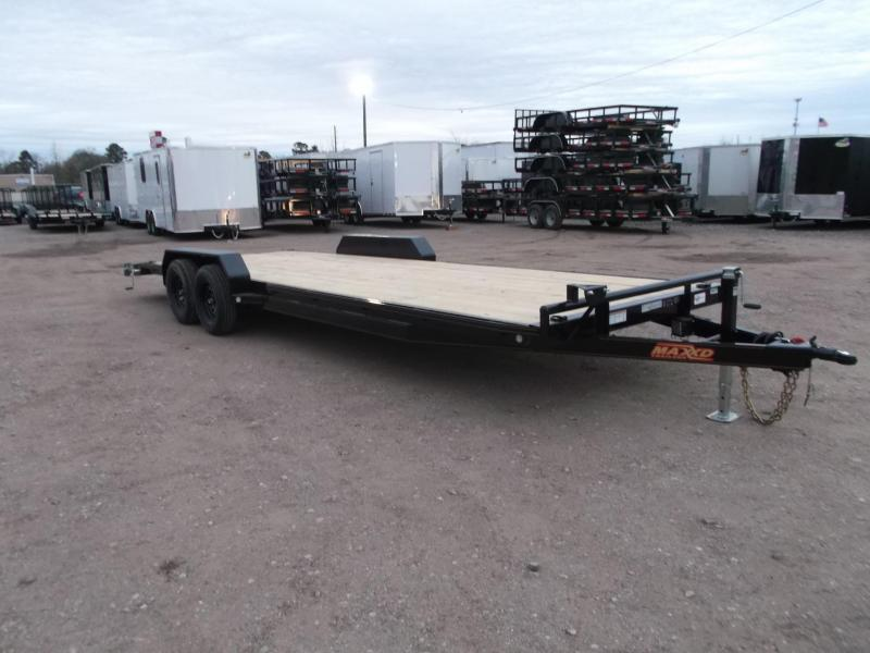 2020 Maxxd Trailers 83X24 7K Car Hauler / Racing Trailer / Flatbed Trailer / Powder Coated / 3500# Axles / LEDs