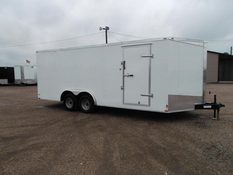 SPECIAL - 2019 Lark 8.5x20 Tandem Axle Cargo Trailer / Car Hauler / 5200# Axles / Heavy Duty Ramp / LEDs