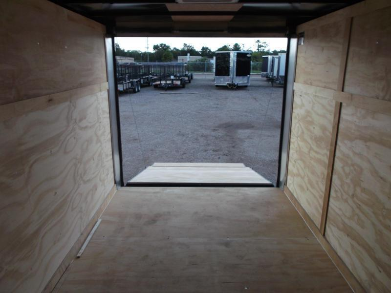 2020 Covered Wagon Cargo Trailer 7x12 Single Axle Cargo Trailer / Enclosed Trailer / Ramp Gate / RV Side Door / LEDs