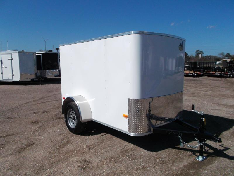 2019 Covered Wagon Trailers 5x8 Single Axle Cargo / Enclosed Trailer w/ Swing Door