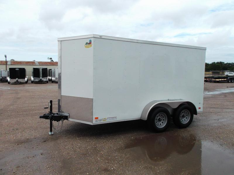 """2020 Covered Wagon Trailers 6x12 Tandem Axle Cargo Trailer / Enclosed Trailer / Ramp / 6'6"""" Interior / RV Door / LEDs"""