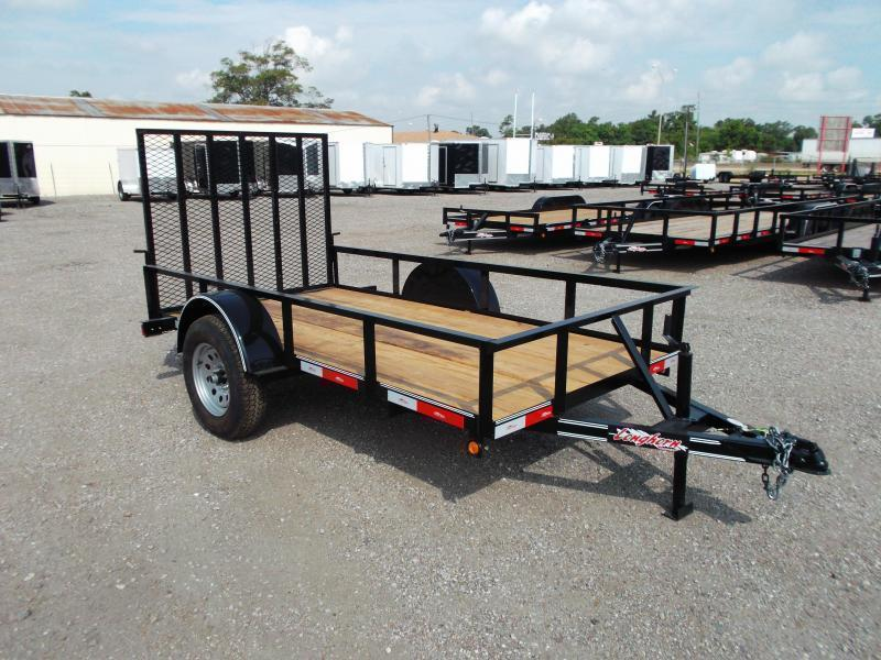 2020 Longhorn Trailers 5x10 Utility Trailer w/ 4ft Heavy Duty Ramp Gate