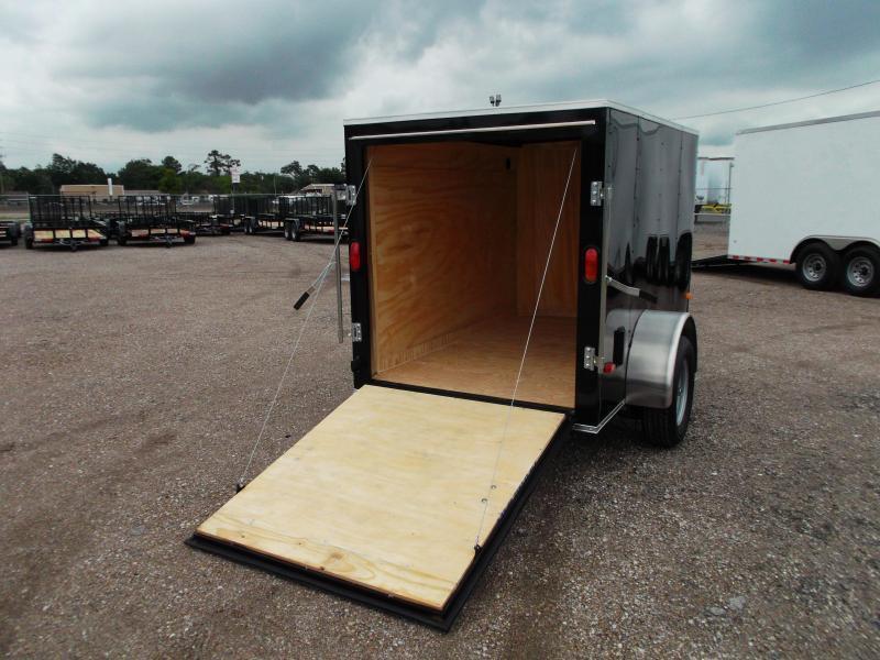 2019 Covered Wagon Trailers 5x8 Single Axle Cargo Trailer / Enclosed Trailer w/ Ramp Gate