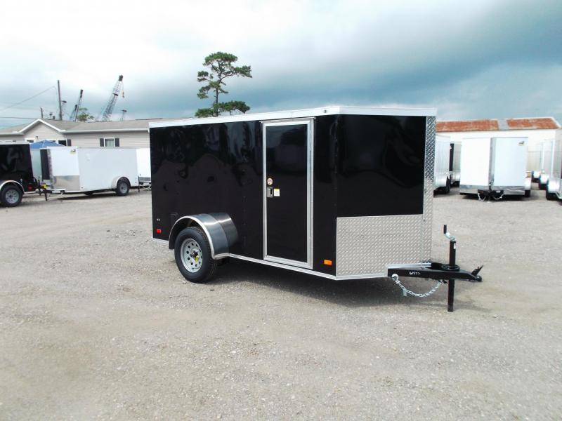 2020 Covered Wagon 5x10 Single Axle Cargo Trailer / Enclosed Trailer / Ramp / RV Side Door / LEDs