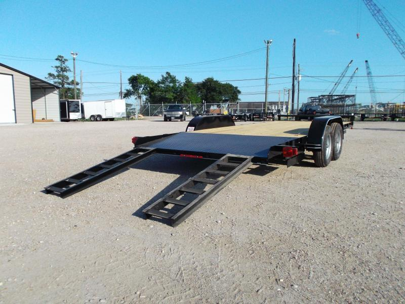 2020 Maxxd 83x18 Car Hauler / Racing Trailer / 2ft Dovetail / Treated Wood / Powder Coated
