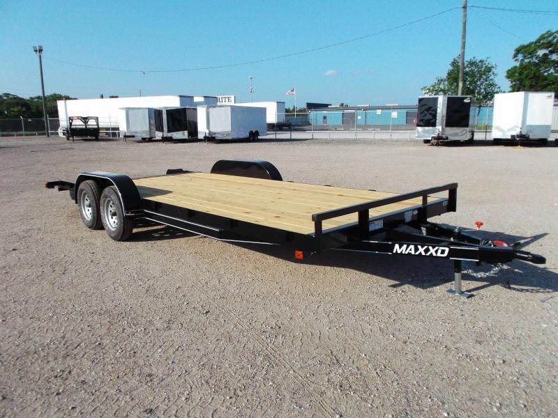 2020 Maxxd 83x18 Car Hauler / Racing Trailer / 2ft Dovetail / Treated Wood / Powder Coated