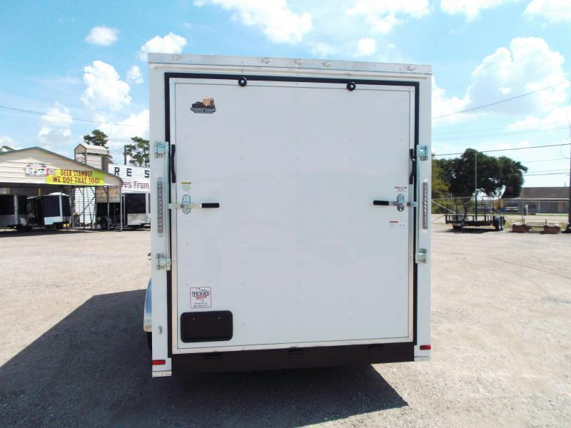 SPECIAL - 2019 Covered Wagon Trailers 7x16 Tandem Axle Cargo Trailer / Enclosed Trailer / 7ft Interior / Ramp / RV Door / LEDs