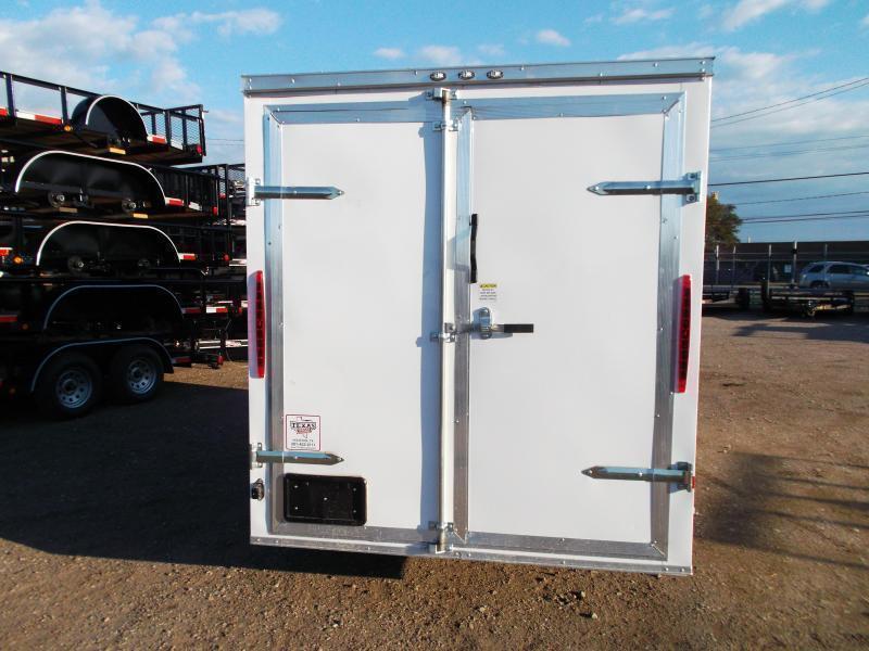 "2020 Texas Select 6x12 Single Axle Cargo Trailer / Enclosed Trailer / 6'3"" Interior / Barn Doors / Side Door / LEDs"