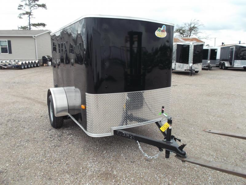 2020 Covered Wagon Trailers 5x8 Single Axle Cargo Trailer / Enclosed Trailer w/ Ramp Gate