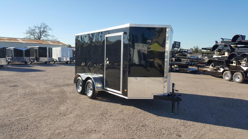 2019 Covered Wagon Trailers 6x12 Tandem Axle Cargo Trailer / Enclosed Trailer / Ramp / RV Side Door / LEDs