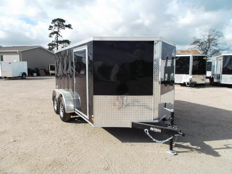 2020 Covered Wagon Trailers 7x12 Tandem Axle Low Profile Motorcycle Trailer / Cargo Trailer / Ramp / LED's