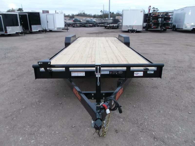2020 Maxxd Trailers 83X24 10K Car Hauler / Racing Trailer / Flatbed Trailer / Powder Coated / 5200# Axles / LEDs