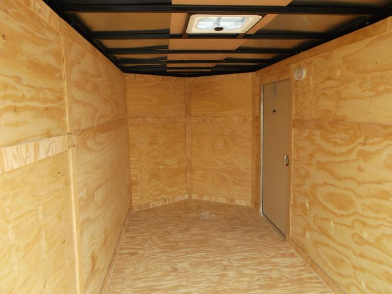 2020 Covered Wagon Trailers 6x12 Tandem Axle Cargo Trailer / Enclosed Trailer / Barn Doors / RV Side Door / LEDs