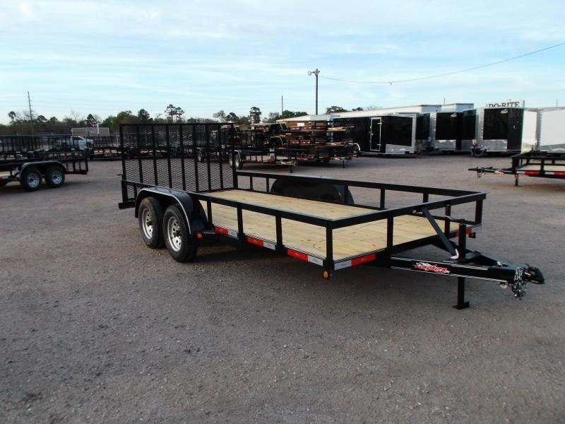 2020 Longhorn Trailers 16ft Utility Trailer w/ 4ft Heavy Duty Ramp