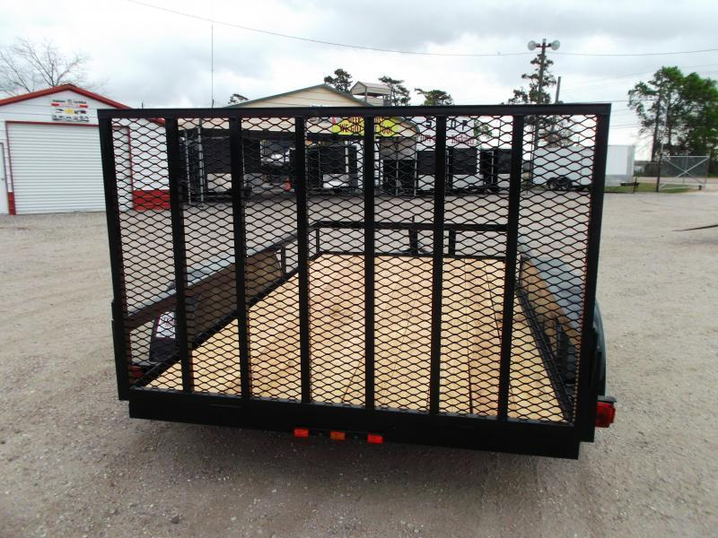 2020 Longhorn Trailers 12ft Tandem Axle Utility Trailer w/ Heavy Duty 4ft Ramp Gate