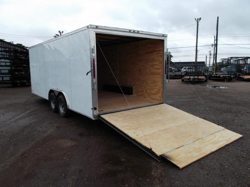 WOW SPECIAL - 2019 Texas Select 8.5x20 Tandem Axle Cargo Trailer / Car Hauler / 5200# Axles / Heavy Duty Ramp / LEDs