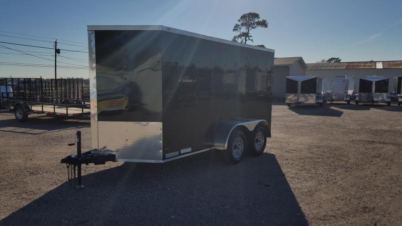 2020 Covered Wagon Trailers 6x12 Tandem Axle Cargo Trailer / Enclosed Trailer / Ramp / RV Side Door / LEDs