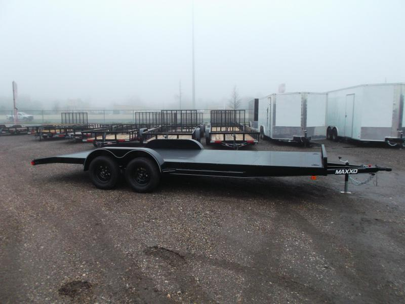 2020 Maxxd 83x18 Steel Deck Car Hauler / Racing Trailer / Powder Coated / 5ft Ramps / 2ft Dovetail / Radial Tires