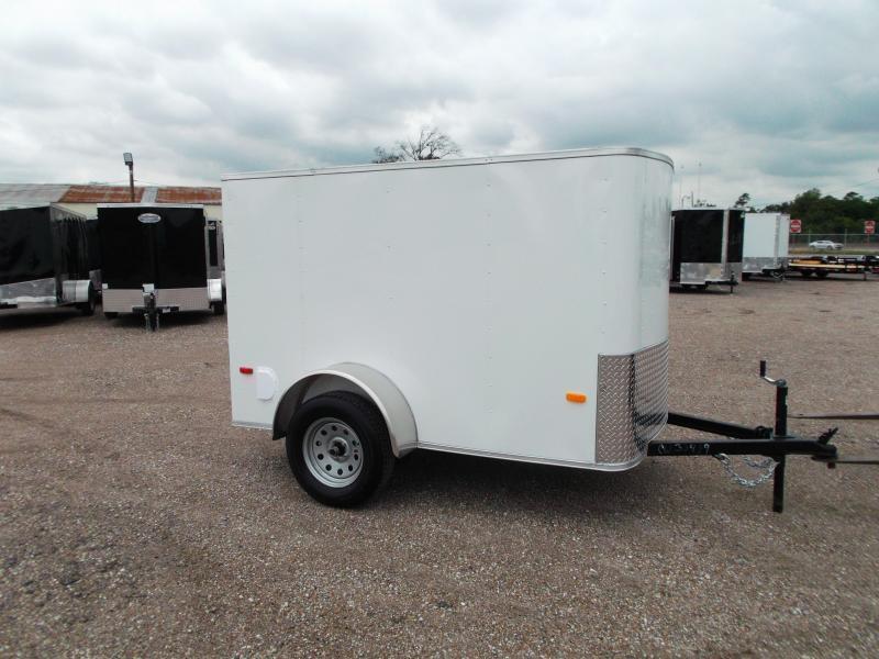 2020 Covered Wagon Trailers 5x8 Single Axle Cargo Trailer / Enclosed Trailer w/ Ramp Gate