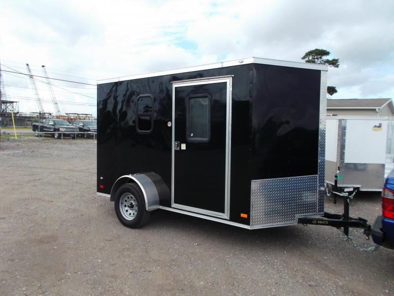 SPECIAL - 2019 Covered Wagon Trailers 6x10 Single Axle Cargo Trailer / Enclosed Trailer / Camping Trailer / A/C / Couch/Bed / Microwave / Electrical