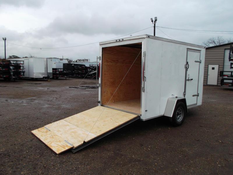"2020 Texas Select 6x10 Single Axle Cargo Trailer / Enclosed Trailer / 6'3"" Interior / Ramp / Side Door / LEDs"