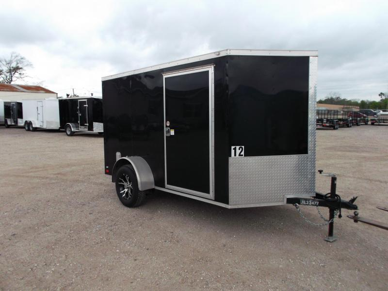 SPECIAL - WOW - 2019 Covered Wagon Trailers 6x10 Cargo Trailer / Motorcycle Trailer / Ramp / Side Door w/ Bar Lock / LEDs