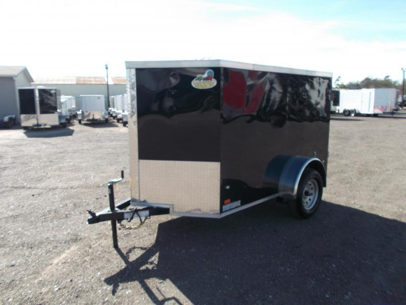 SPECIAL - 2020 Covered Wagon Trailers 5x8 Single Axle Cargo / Enclosed Trailer / Barn Doors / LEDs - NO SIDE DOOR