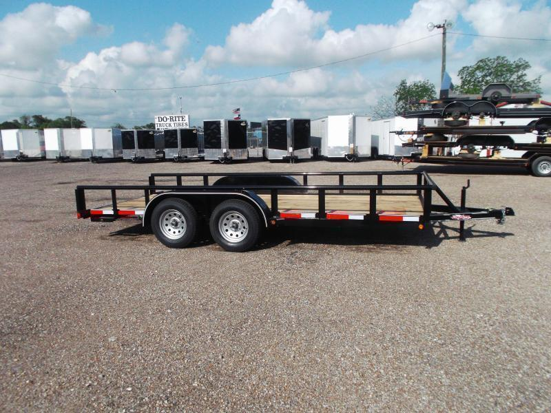 2020 Longhorn Trailers 16ft Utility Trailer w/ Pipetop / 5ft Stow Away Ramps
