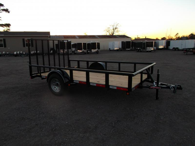 2020 Longhorn Trailers 77x12 Single Axle Utility Trailer / Pipetop / Heavy Duty 4ft Ramp