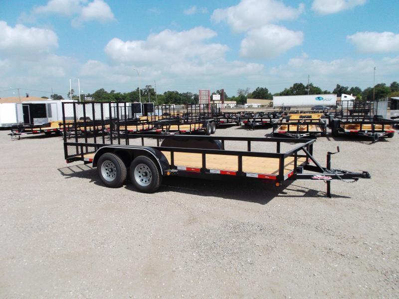 2020 Longhorn Trailers 16ft Utility Trailer / 4ft Heavy Duty Ramp / Electric Brakes