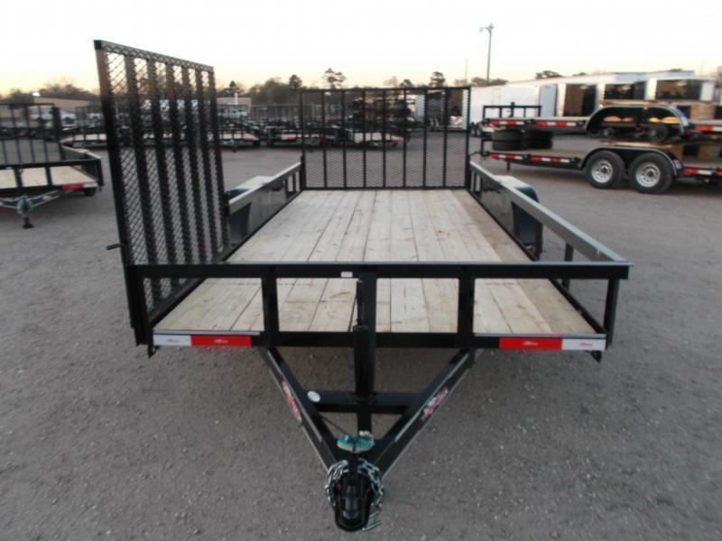 2020 Longhorn Trailers 16ft Utility Trailer / ATV Trailer / Side by Side Trailer / 4ft Rear Ramp / 4ft Side Load Ramp