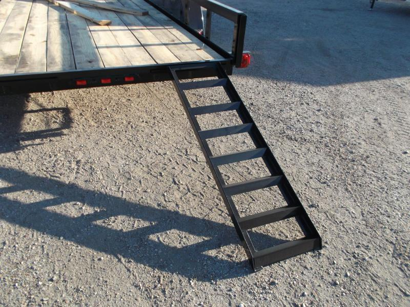2020 Longhorn Trailers 83x20 Utility Trailer w/ 5ft Slide Out Ramps / Electric Brakes