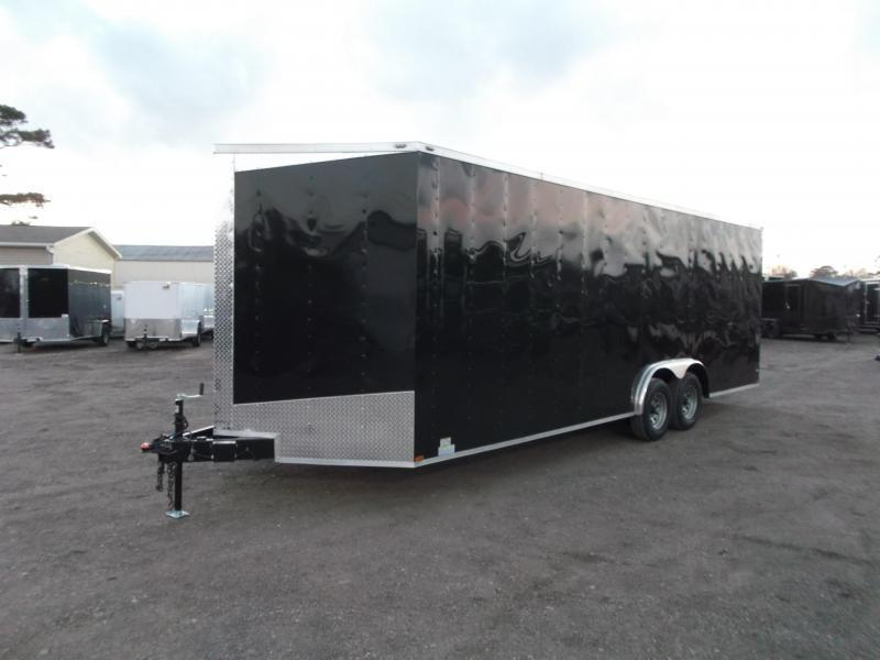 SPECIAL - 2019 Lark 8.5x24 Tandem Axle Cargo Trailer / Enclosed Trailer / Car Hauler / 5200# Axles / Heavy Duty Ramp / LEDs